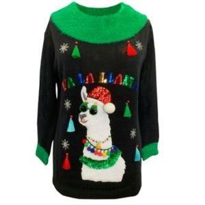 ⚡️🆕 Cute!! Llama Ugly Christmas Sweater